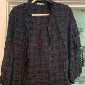 Red & Green Quarter Length Flannel